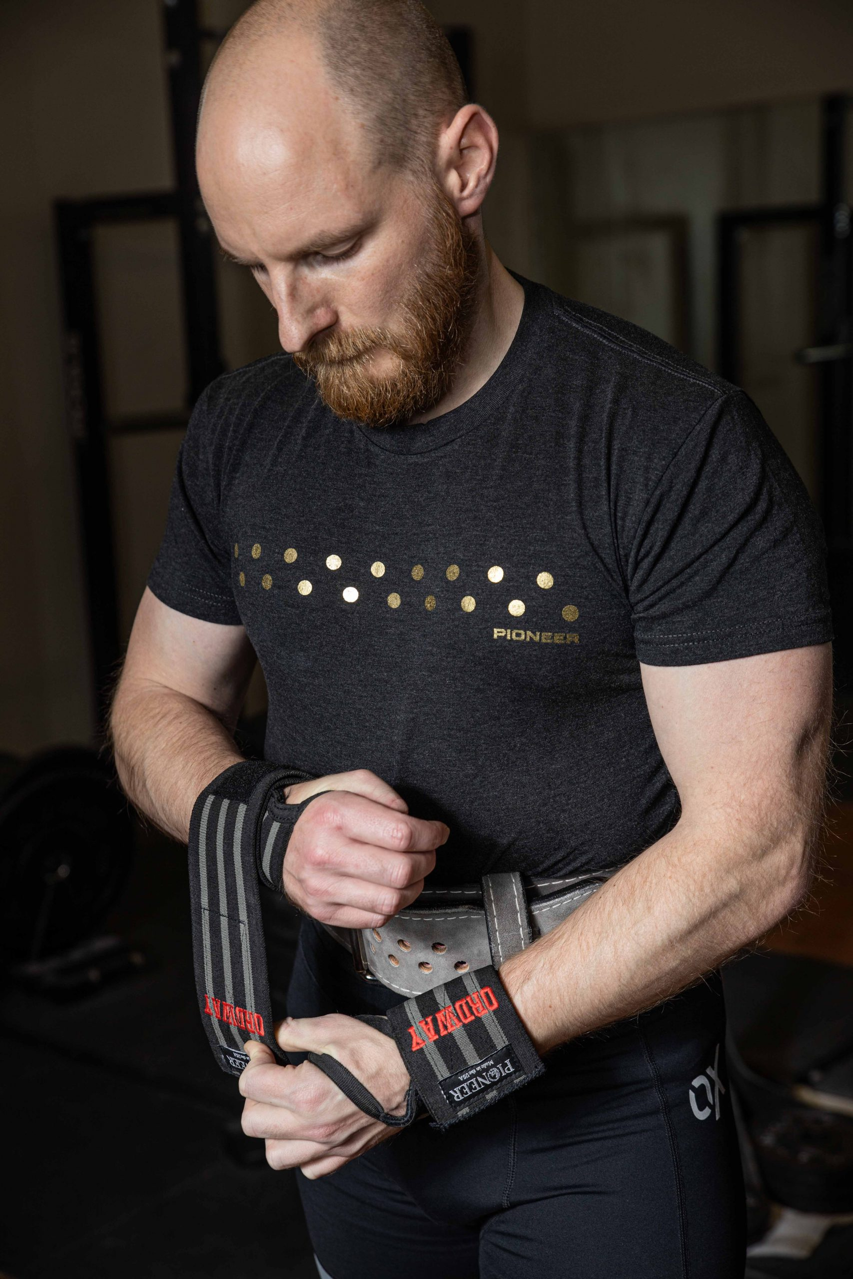 Robert Ordway with Pioneer wrist wraps