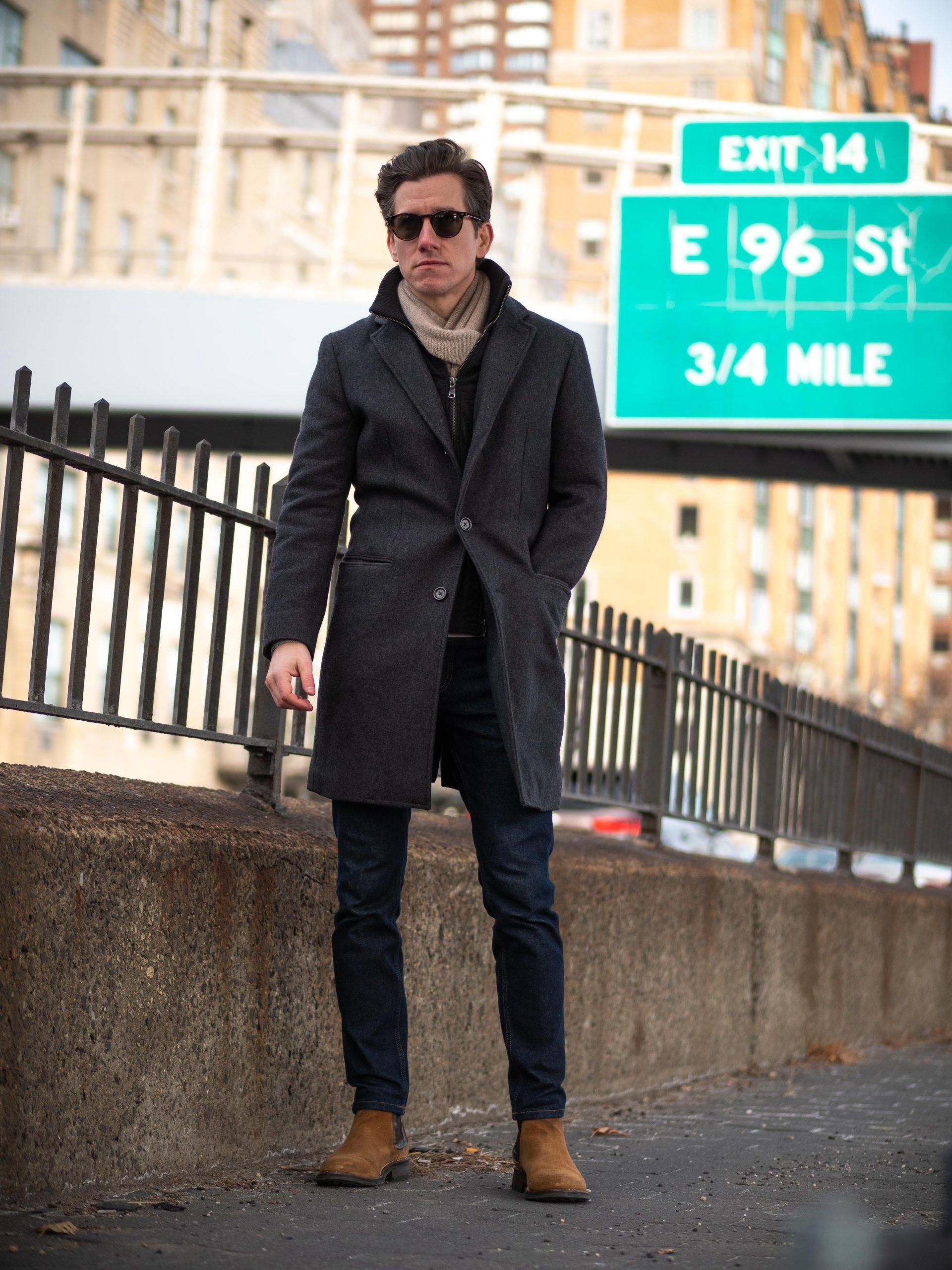 Charcoal Topcoat Jeans Chelsea Boots-29