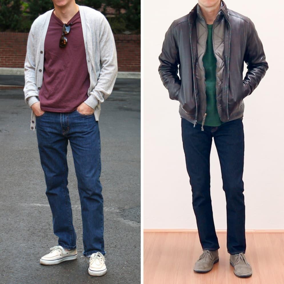 Slim vs. skinny jeans
