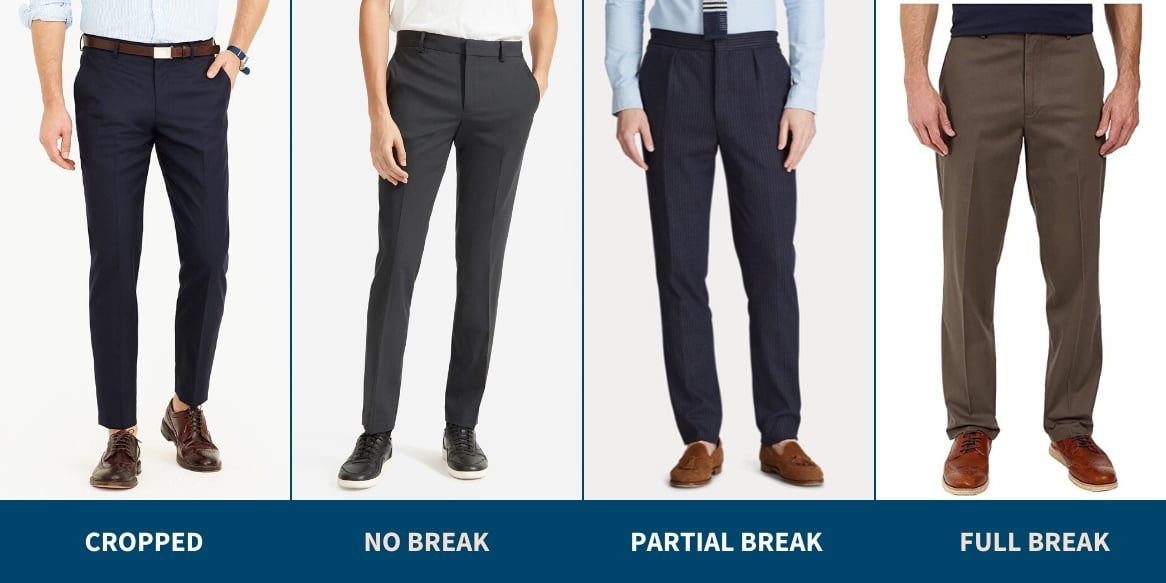 Dress pants break