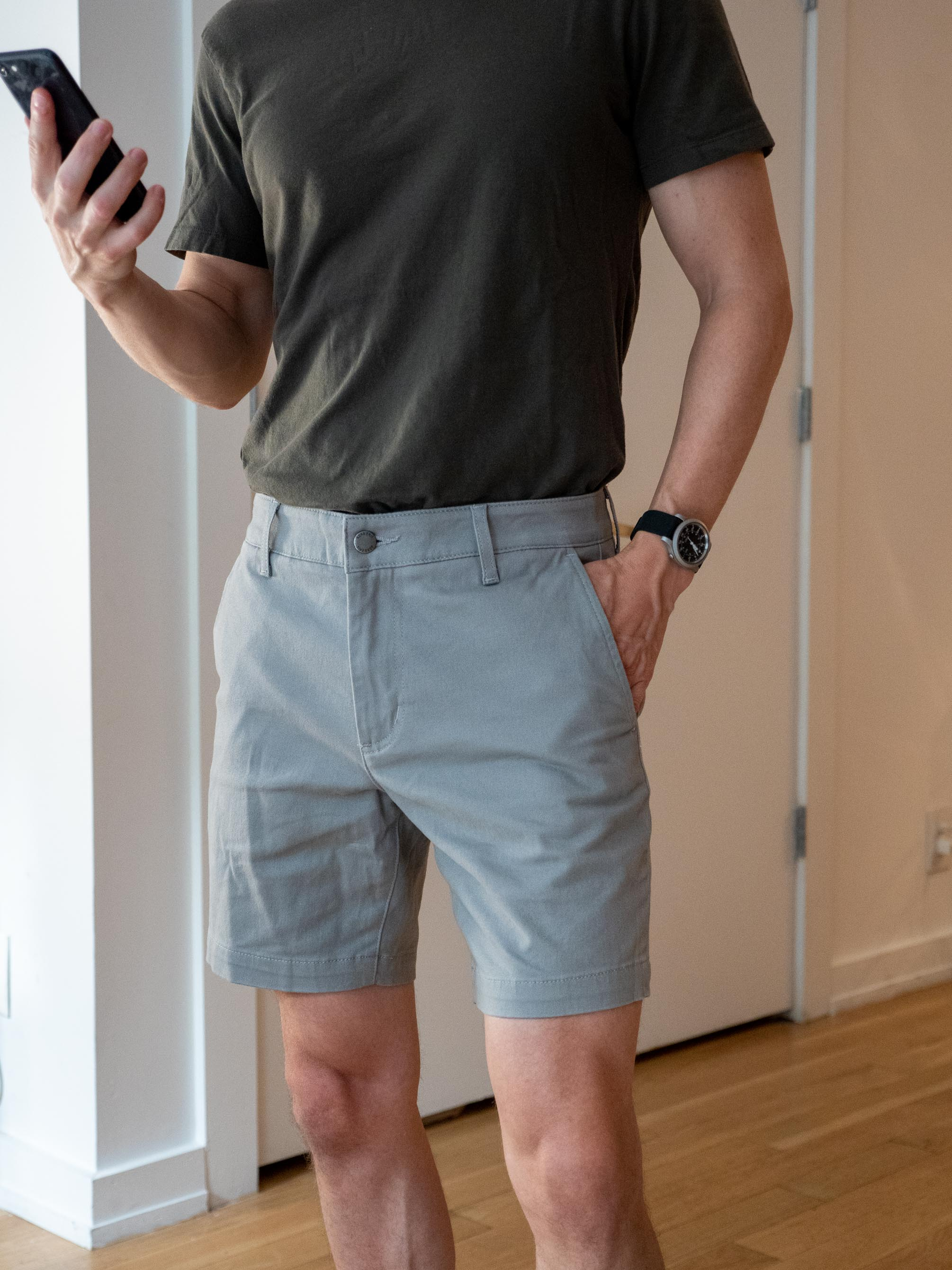 Ash and Erie Chino Shorts-9