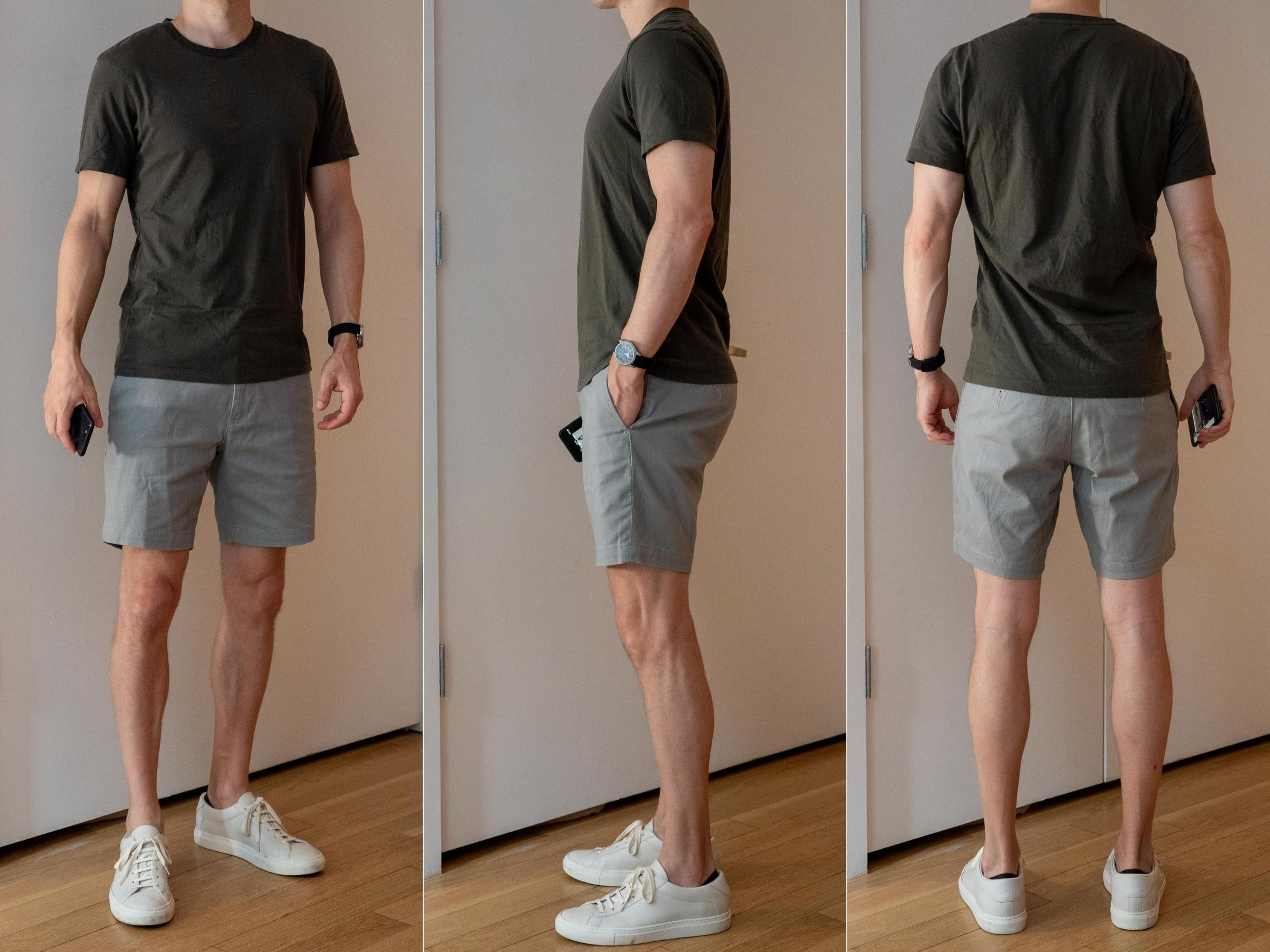 Ash and Erie Chino Shorts fit check