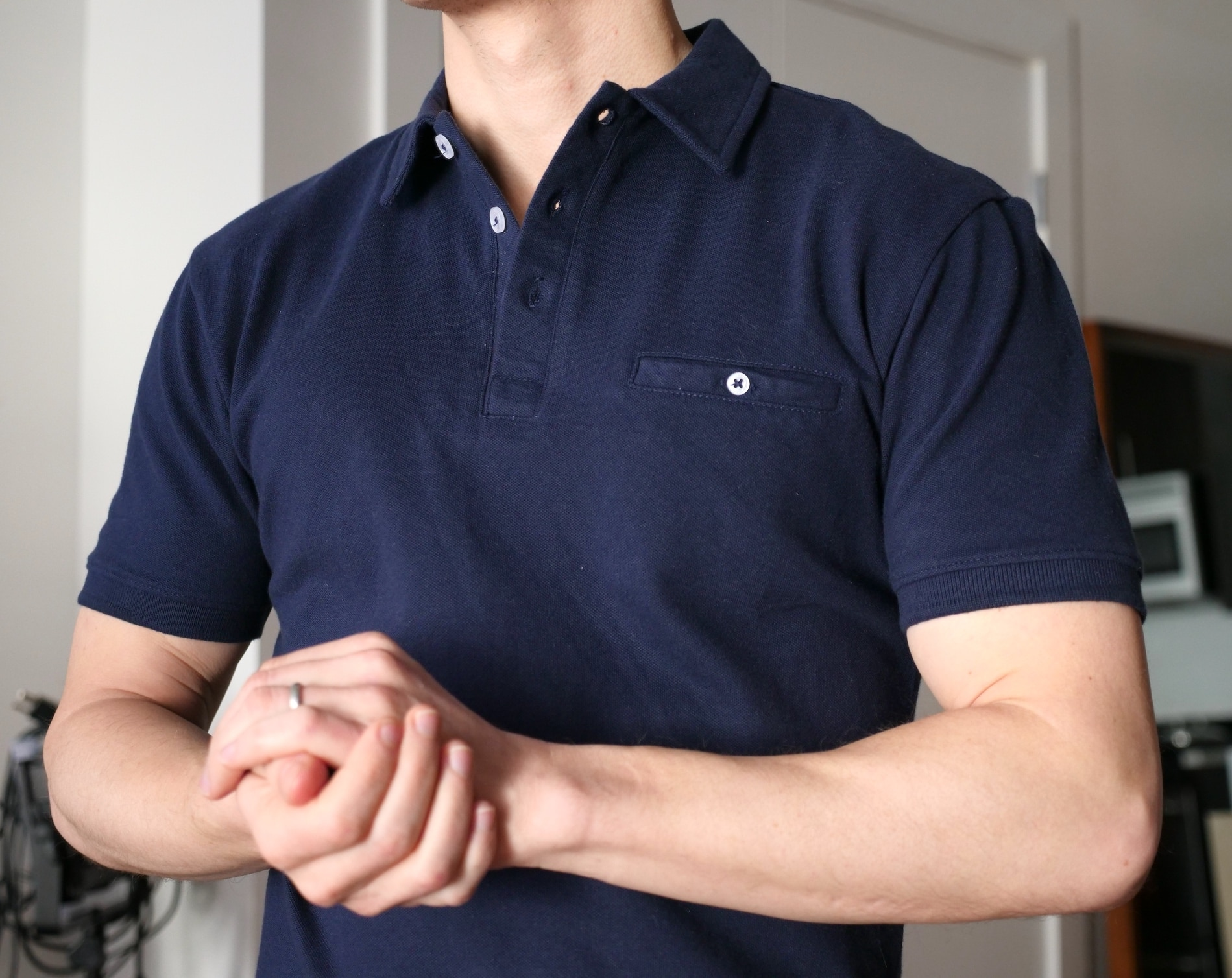 Ash and Erie polo shirt chest pocket