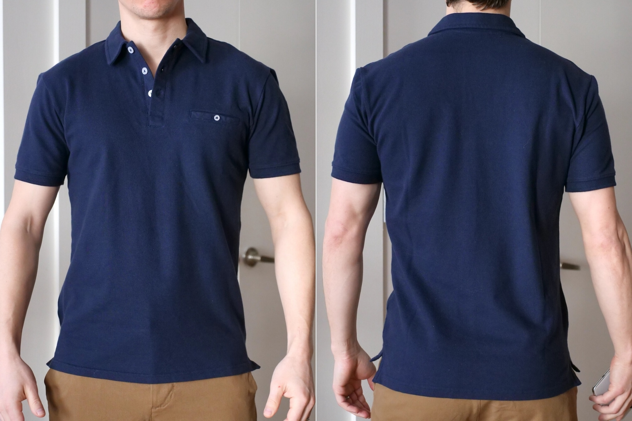 Ash and Erie polo shirt fit check