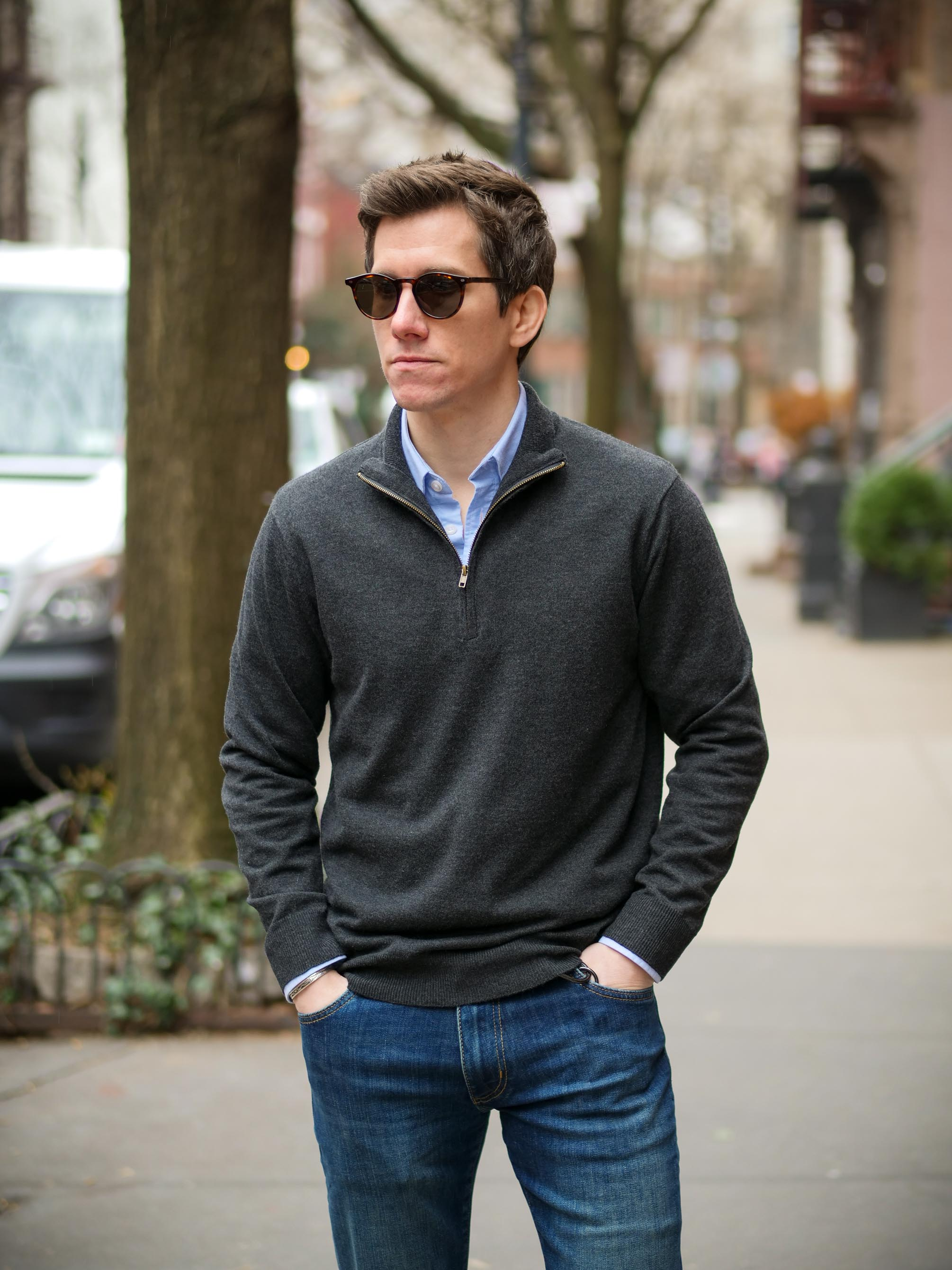 Ash and Erie quarter zip sweater