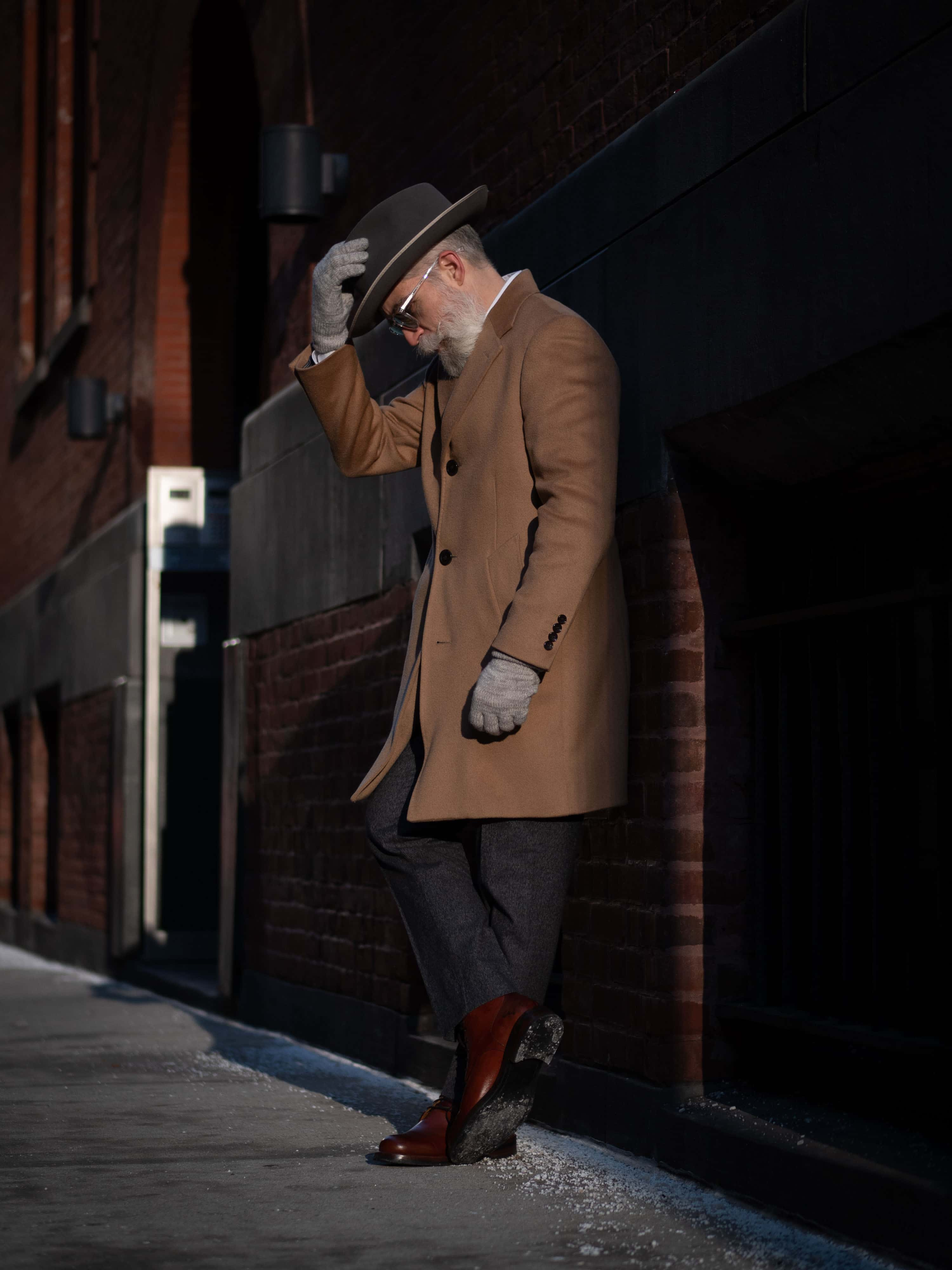 Fedora and topcoat