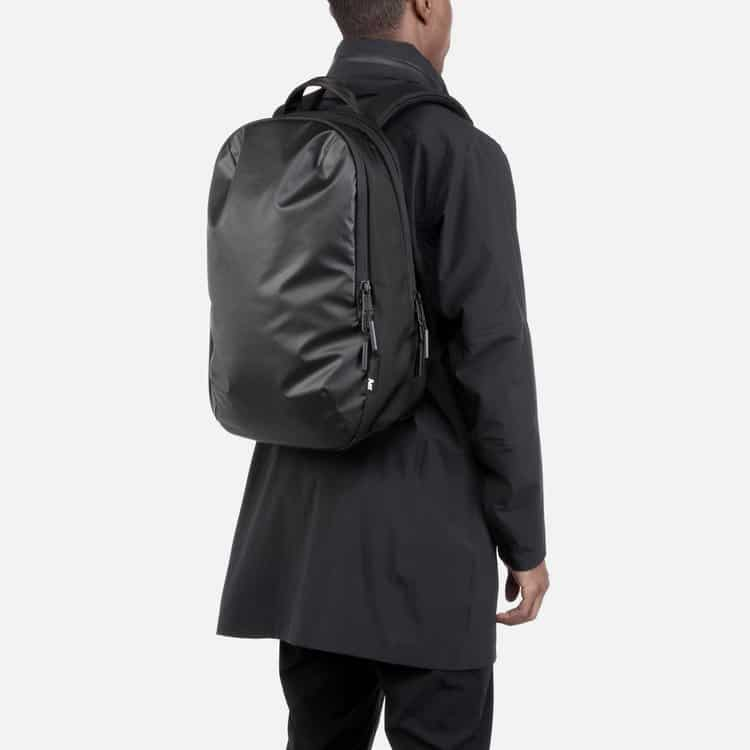 Sleek black backpack