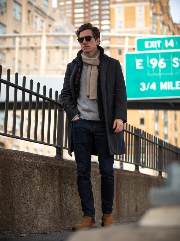 Topcoat, Jeans and Chelseas - featured