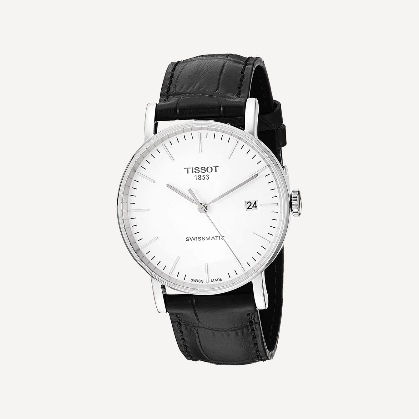 Tissot mens Everytime Stainless Steel Casual Watch Black T1094071603100
