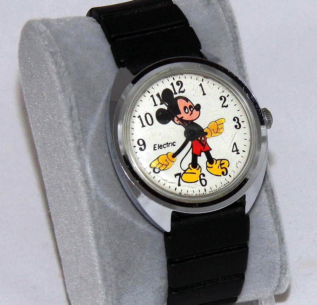 Vintage Mickey Mouse Watch By Timex Circa 1971
