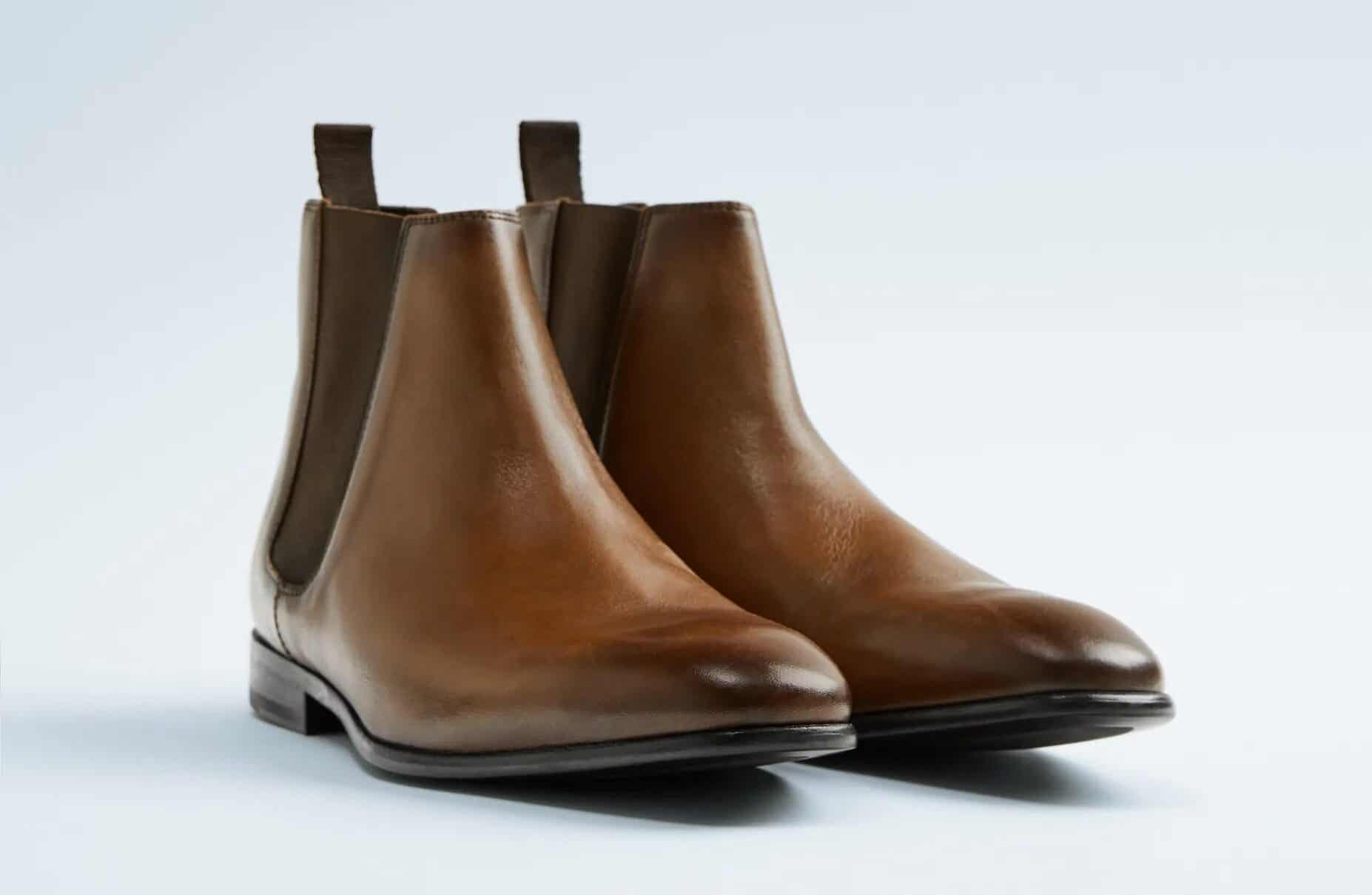 Zara Brown Soft Leather Ankle Boots