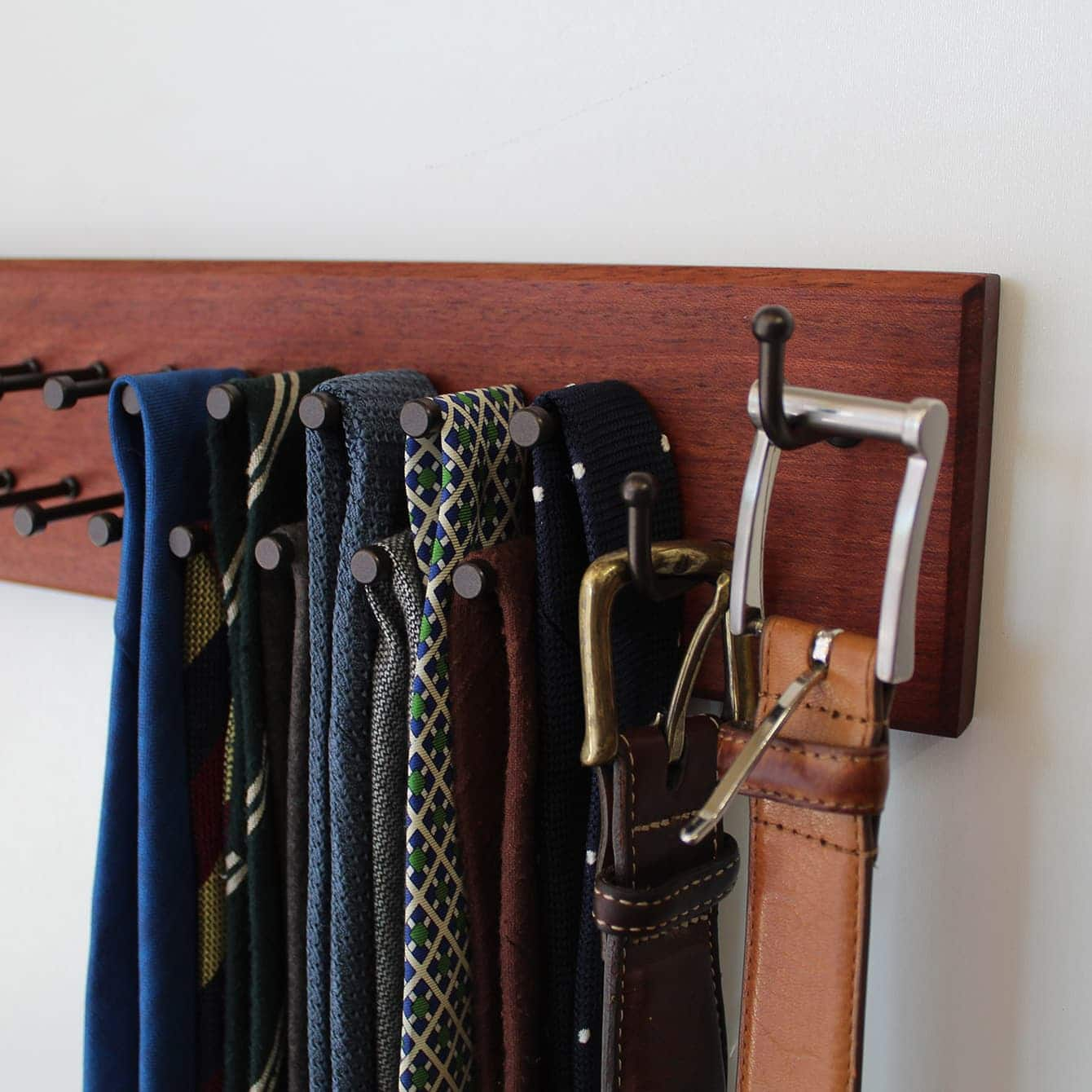 Belt rack close up