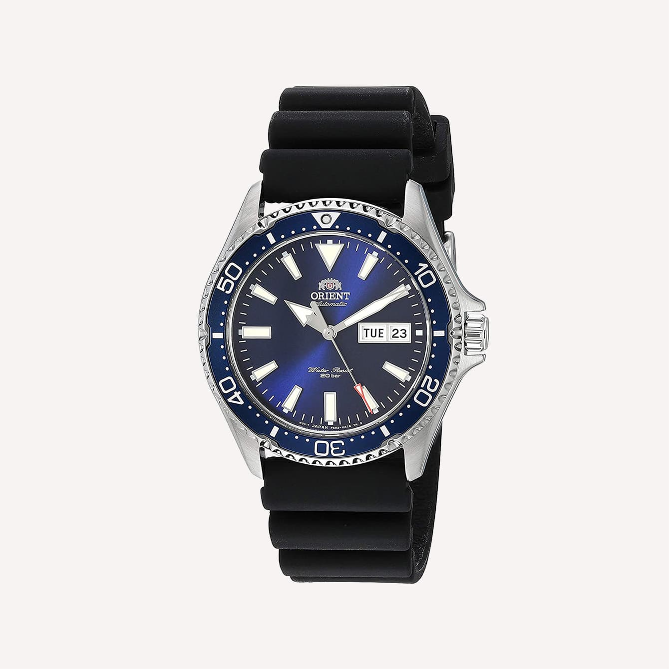 ORIENT MENS KAMASU STAINLESS STEEL JAPANESE AUTOMATIC DIVING WATCH