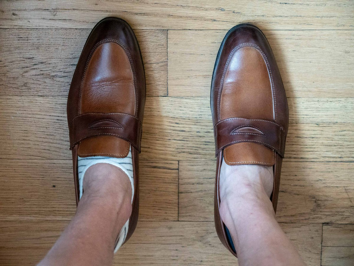 Regular no show vs Invisasox loafers