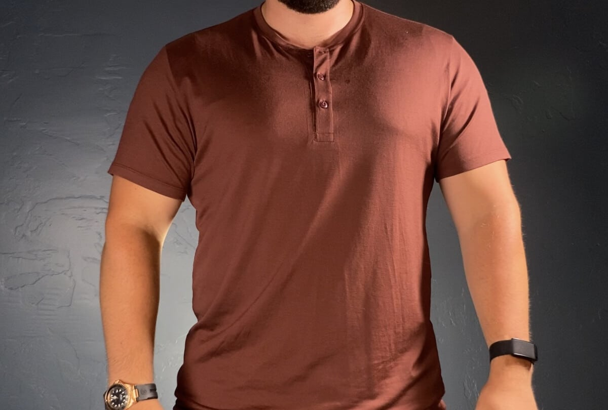 Wool and Prince short sleeve henley - front