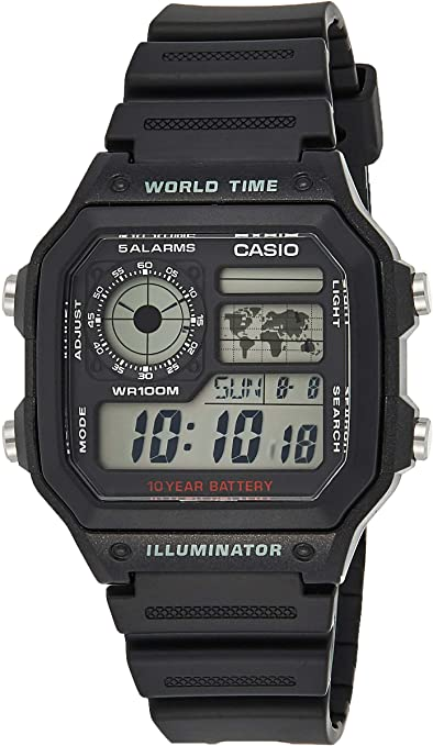 Casio AE1200WH 1A World Time