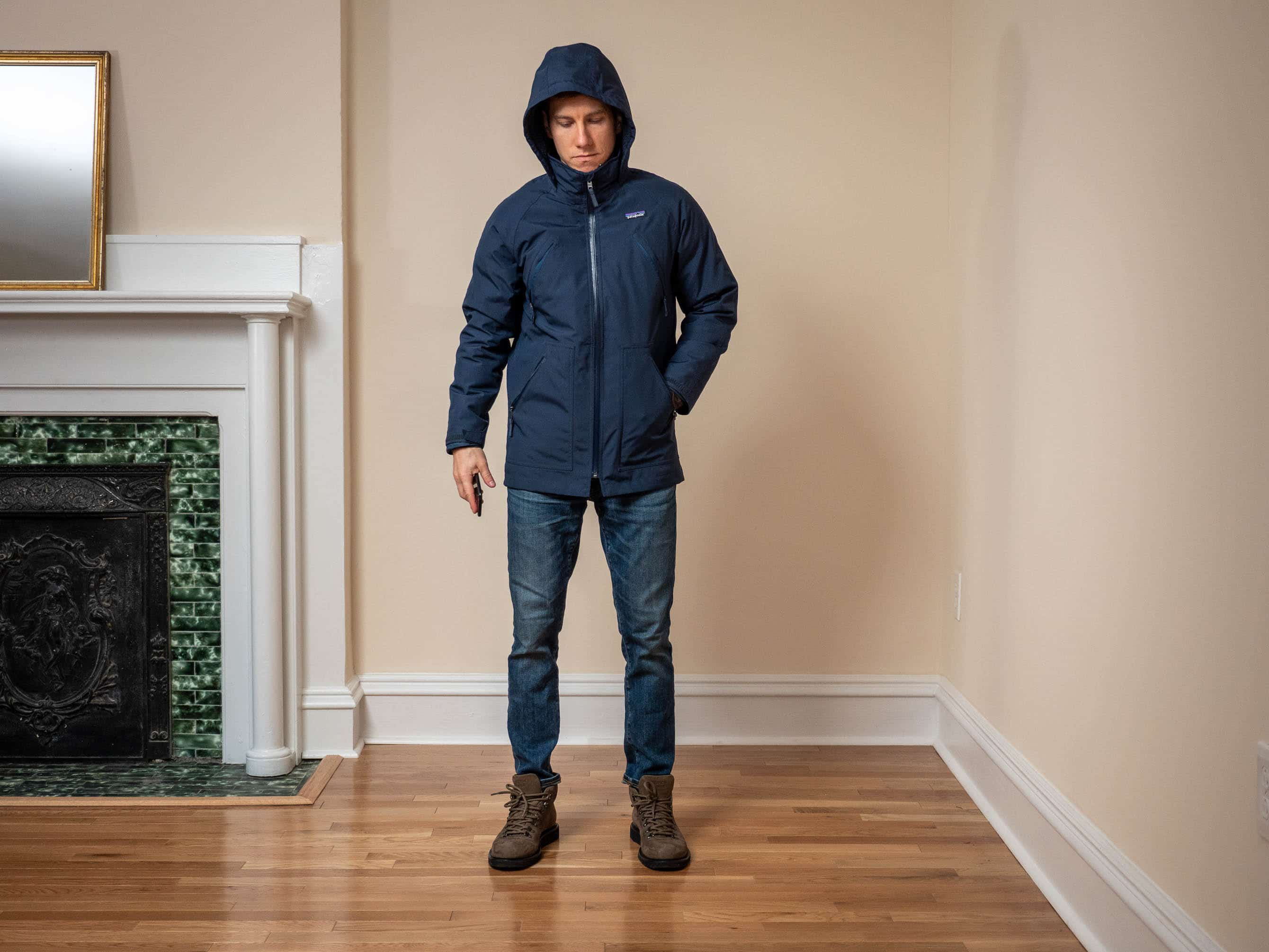 Patagonia Tres Boys 3-in-1 Parka hood up front
