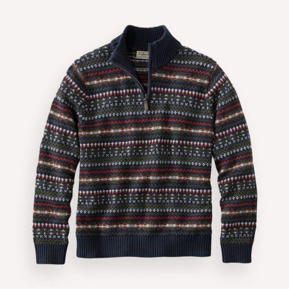LL Bean Fair Isle sweater