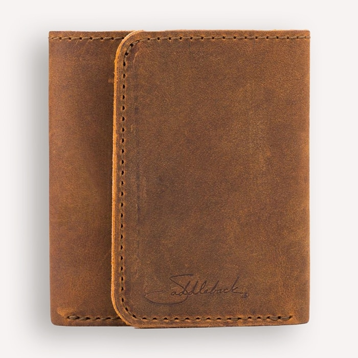 Saddleback Simple Trifold Leather Wallet