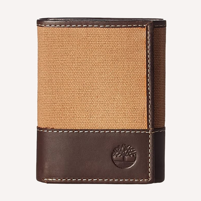 Timberland Canvas and Leather Trifold Wallet