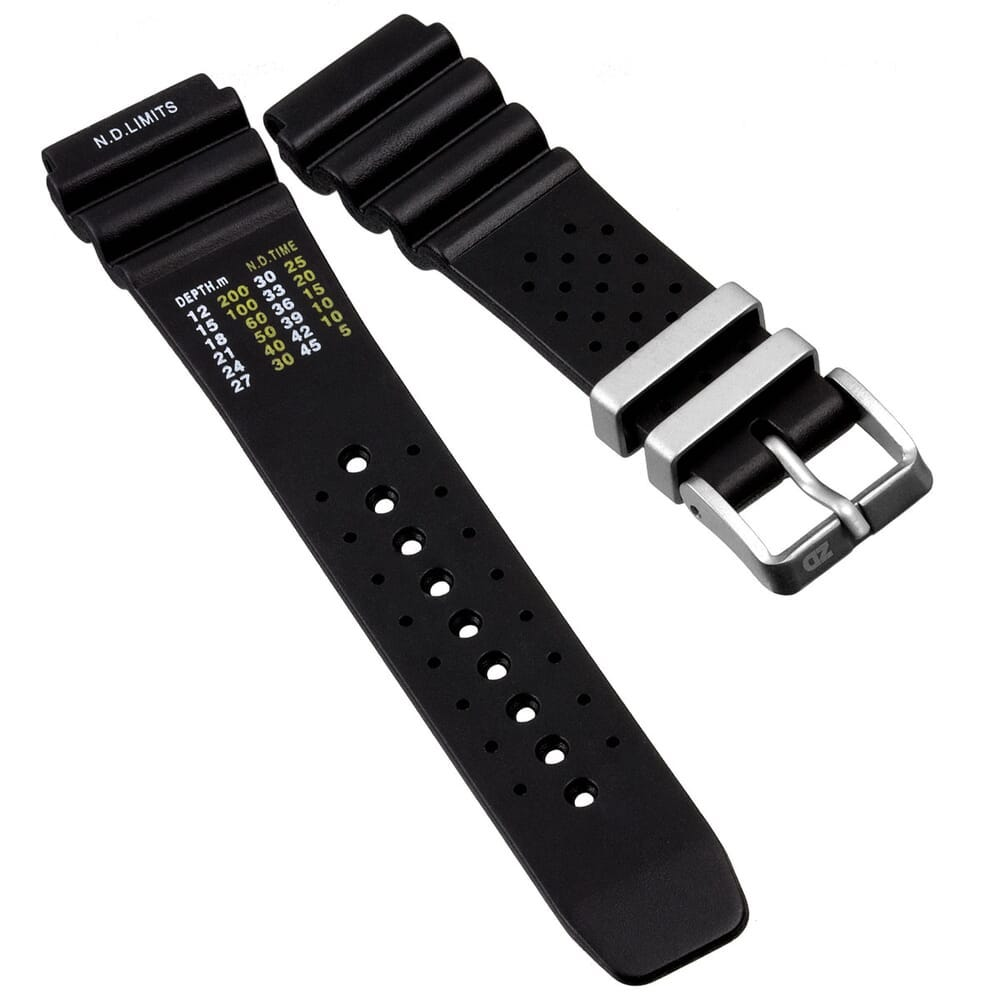 ZULUDIVER 286 Italian Rubber Watch Strap