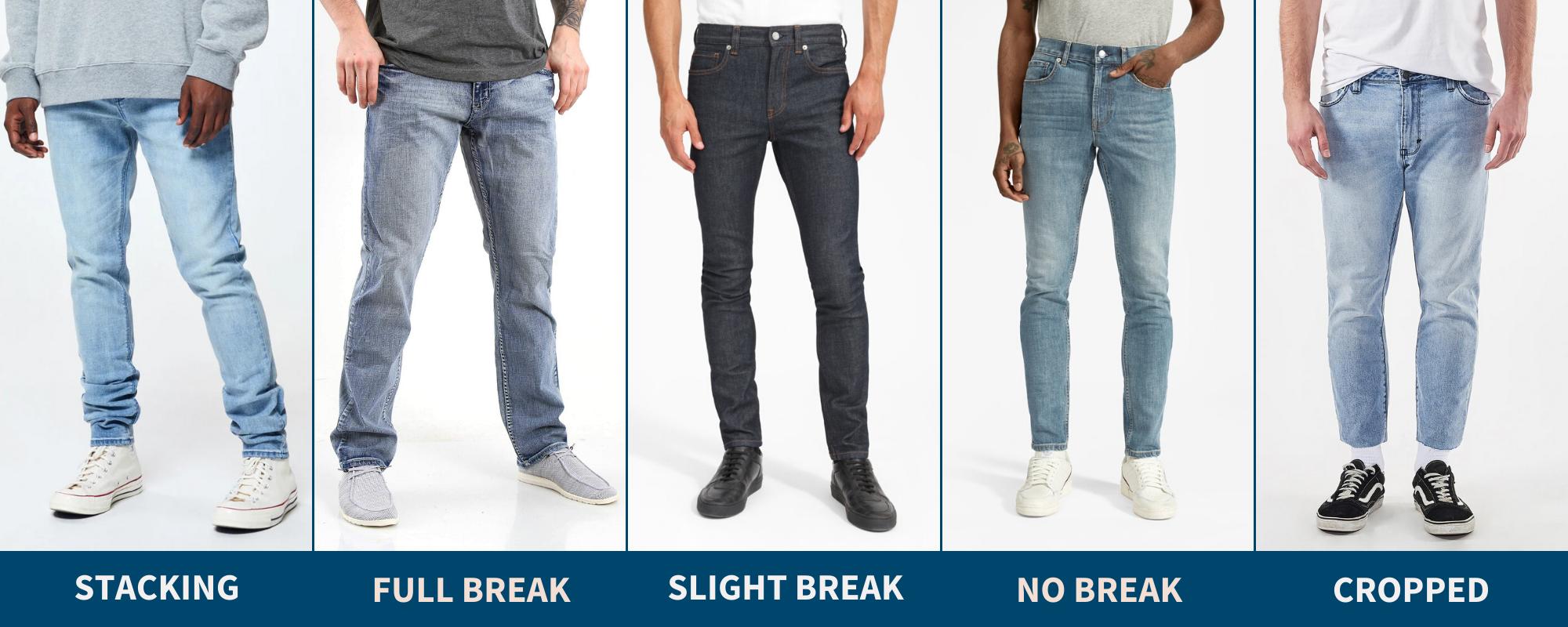 Pants break chart