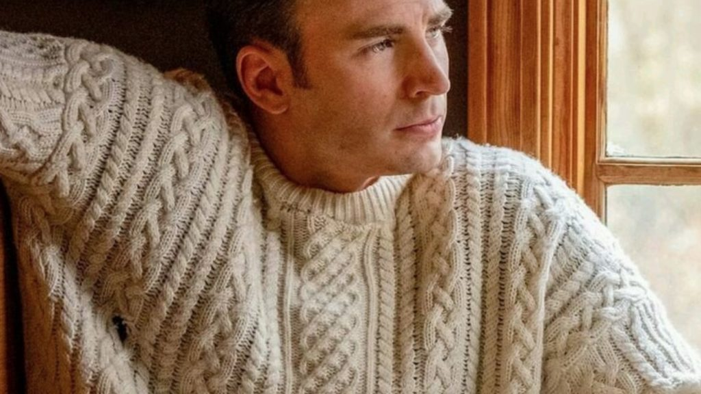 Chris Evans in an Aran Sweater in Knives Out