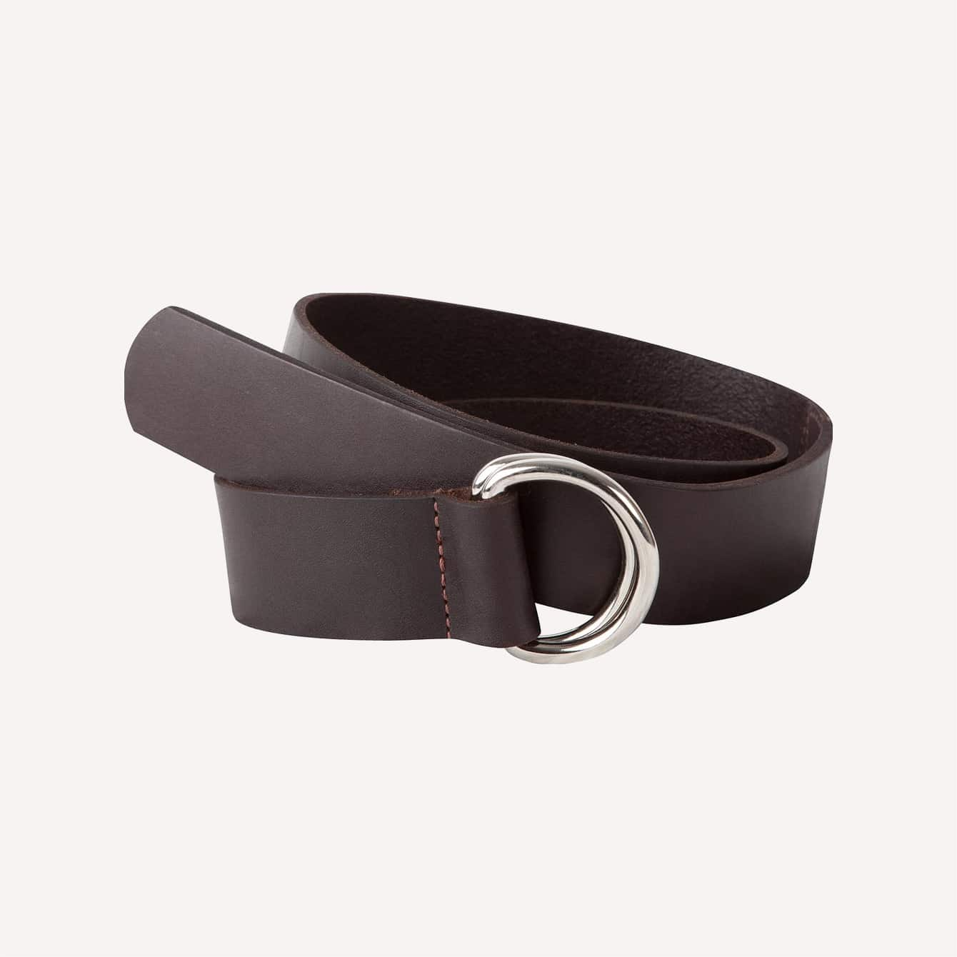 Mountain Khakis Leather D Ring Belt Brown