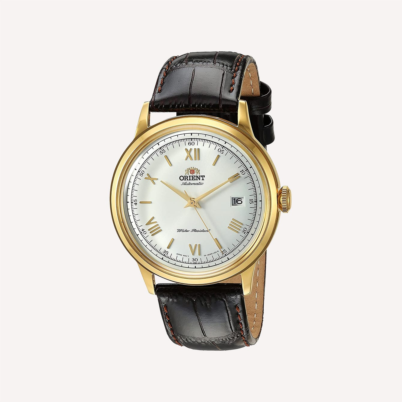 ORIENT MENS BAMBINO AUTOMATIC STAINLESS DRESS WATCH gold