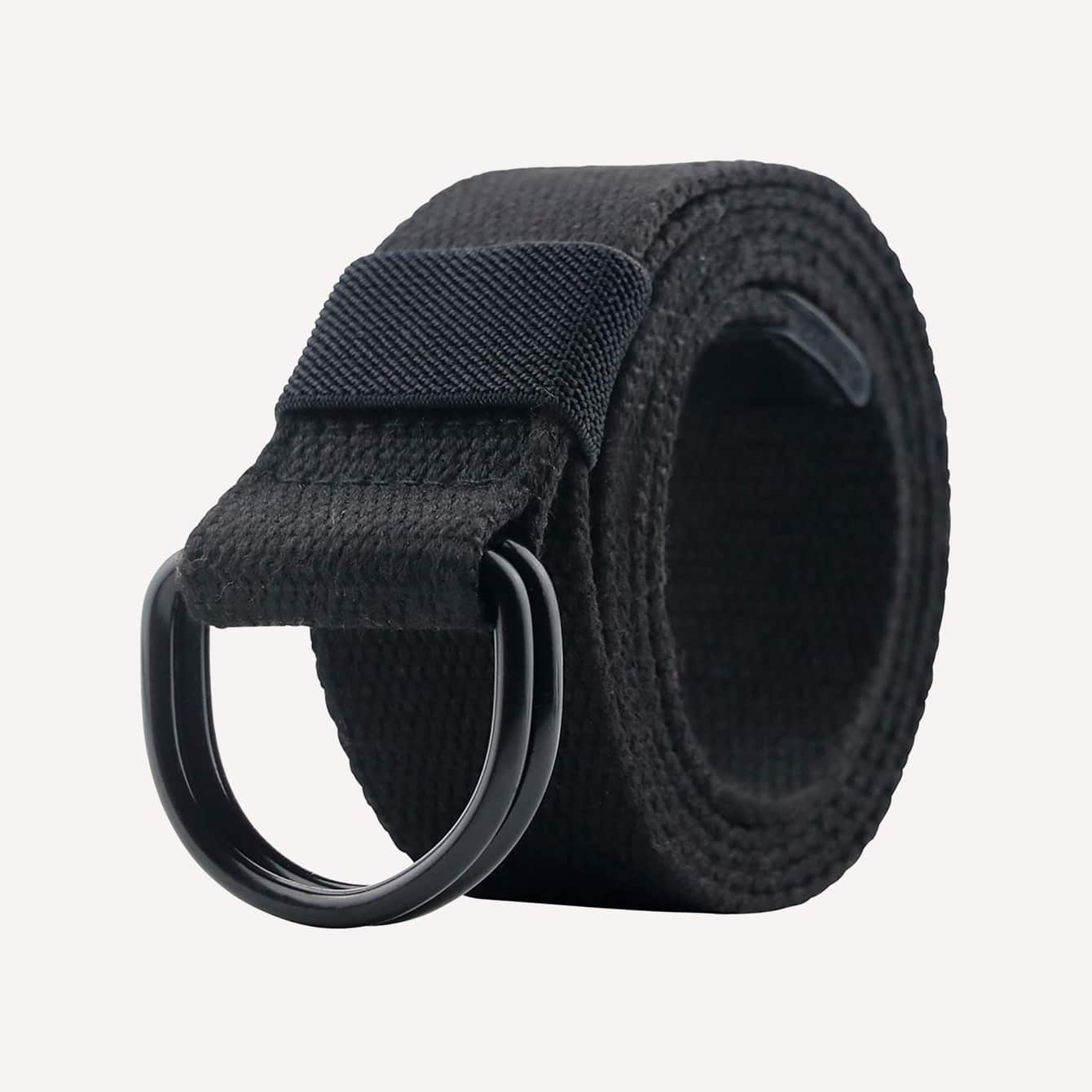 maikun Canvas Belt for Men and Women with Black D Ring