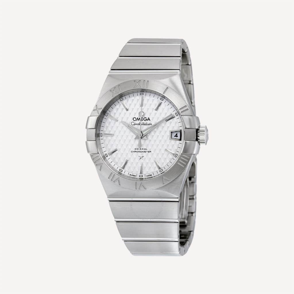 omega constellation automatic silver dial stainless steel men s watch