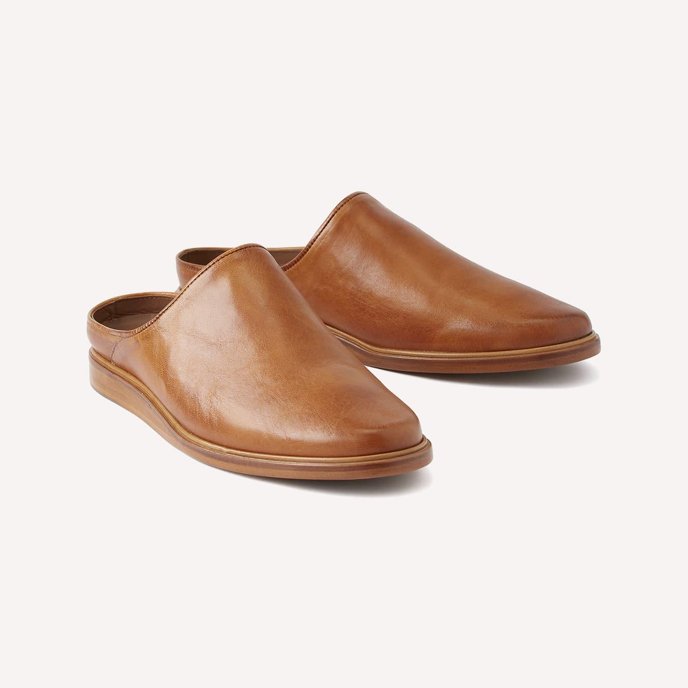 Rhodes Footwear Leather House Shoe